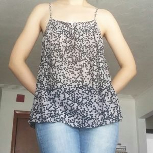 ✨2/$20✨Taupe and Black Dotted Flowy Cami
